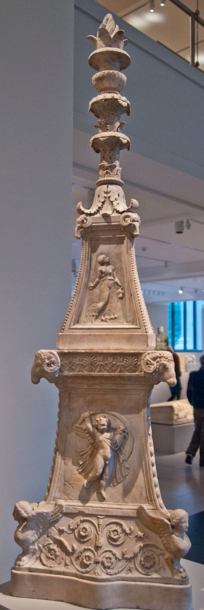 This single lamp stand is much taller than most, but it might be closer to the size of the seven lamp stands among which the Son of Man moved in John's initial vision. Metropolitan Museum of Art, New York, New York.  © copyright holder of this work is Richard E. Oster.  Page 76, figure 40.