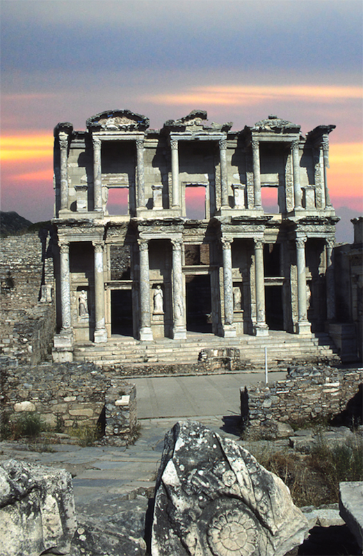 Iconic building from the early 2nd century AD, the library of Celsus, constructed in AD 110.  © copyright holder of this work is Richard E. Oster.