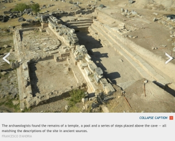 Italian Excavations of Plutonium at Hierapolis