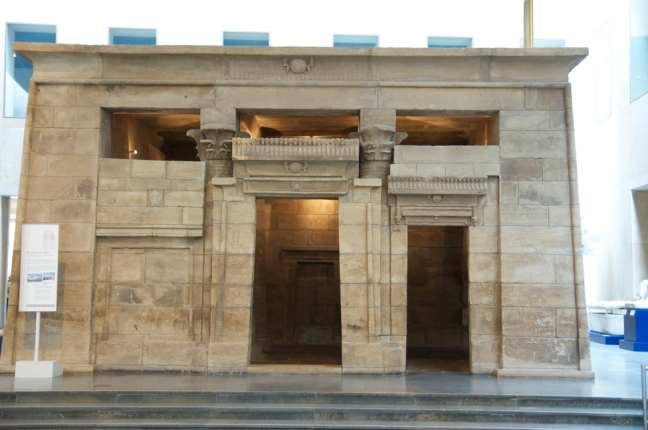 This Egyptian Temple of Taffeh was constructed along the Nile in ancient Nubia during the latter third of the reign of Augustus (AD 1-14). Its construction was designed to demonstrate Roman power and influence over the religious life of the Nubians. This temple was transported to the Netherlands and reassembled in the Nation Museum of Antiquities (Rijksmuseum van Oudheden ) in Leiden in the 1970s.  © copyright holder of this work is Richard E. Oster.  Page 33, figure 16.