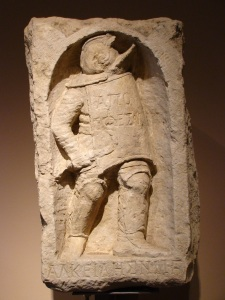 Relief of Roman gladiator,  located in the Antalya Museum in Turkey.  @ copyright holder of this image is Richard E. Oster, Jr.